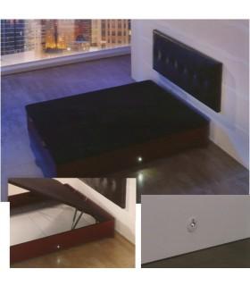Iluminación Led para canapé de madera