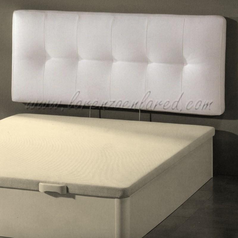 Cabezal cama acolchado good cabecero tapizado with - Cabezal cama polipiel ...