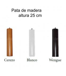 Pata de madera para somier o base tapizada