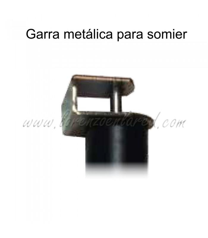 Garra metálica para somier