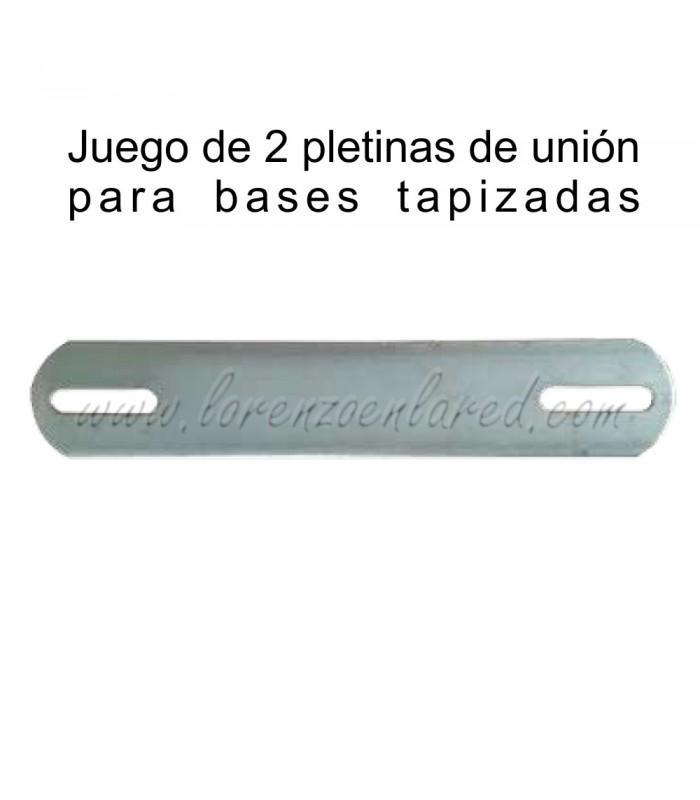 Juego de 2 pletinas de unión para bases tapizadas