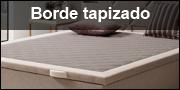 Tapa con borde tapizado